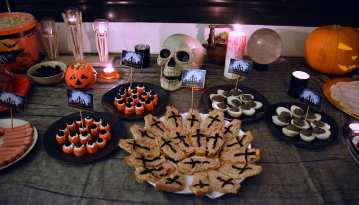 buffet table repas Halloween